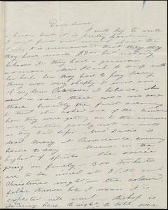 Letter from Deborah Weston, [Boston, Mass.], to Anne Warren Weston, [7 Dec.(?), 1840]