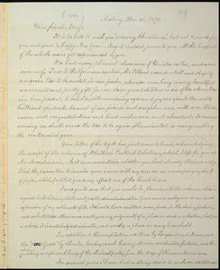 Letter from William Lloyd Garrison, Roxbury, [Mass.], to Samuel May, Dec. 31, 1875