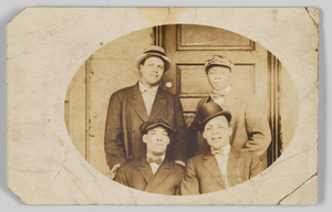 Thumbnail for Photographic postcard of four unidentified men