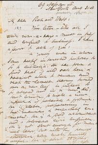 Letter from James Miller M'Kim, New York, [New York], to Richard Davis Webb, [1865] Aug[ust] 31st