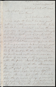 Letter from Mrs. Mary Welsh, Edinburgh, [Scotland], to Maria Weston Chapman, Oct'r 30th, 1843