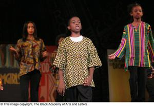 Young Singers on Stage Performing Hip Hop Broadway: The Musical