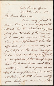 Letter from Oliver Johnson, New York, [N.Y.], to William Lloyd Garrison, 3 Oct[ober], 1861