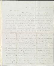 Letter to] Miss Weston [manuscript