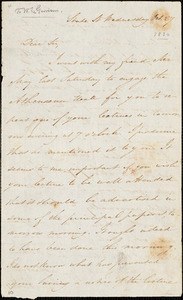 Letter from Samuel Edmund Sewall, State St[reet, Boston, Massachusetts], to William Lloyd Garrison, [1830] Oct[ober] 27