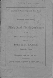 Journal of Proceedings and Year Book of the Seventeenth Annual Session of the Middle South Florida Conference of the African Methodist Episcopal Church