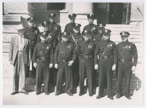 Abilene Chief of Police C. Z. Hallmark with Officers of Shift Two
