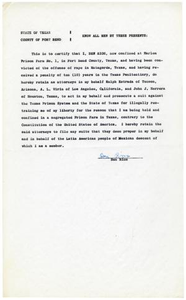 Affidavit from Ben Rios