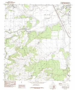 Knickerbocker Quadrangle Digital Raster Graphic Topographic Maps: 7.5 Minute Series (Topographic)