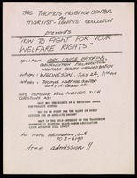 Handbill. How to Fight for Your Welfare Rights
