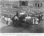 Cotton bales grown by free Negroes, collected for transport to England, [Tuskegee City, Alabama.]