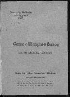 Catalogue: Gammon Theological Seminary, 1895