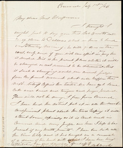 Letter from Mary Merrick Brooks, Concord, [Mass.], to Maria Weston Chapman, July 1st / [18]46