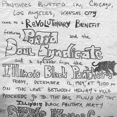 Black Panthers benefit flier