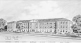 Drawing of the proposed Science Building at Alabama A & M College in Normal, Alabama.