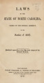 Laws of the State of North Carolina, passed by the General Assembly [1852]