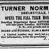 Turner Normal School ad