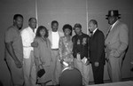 Black Women's Forum event speakers posing for a group portrait, Los Angeles, 1991