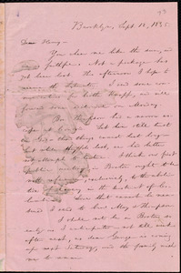 Letter from William Lloyd Garrison, Brooklyn, [Conn.], to Henry Egbert Benson, Sept. 12, 1835
