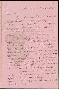 Thumbnail for Letter from William Lloyd Garrison, Brooklyn, [Conn.], to Henry Egbert Benson, Sept. 12, 1835