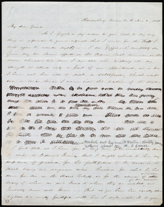 Letter from Abby Kelley Foster, Harveysburg, Warren Co., O[hio], to Maria Weston Chapman, Nov. 8, 1845
