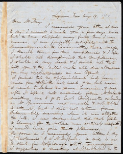 Letter from George W. Putnam, Lynn, [Mass.], to Samuel May, Aug. 19, 1850