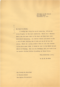Letter from W. E. B. Du Bois to George W. Crawford