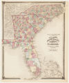 County map of North Carolina, South Carolina, Georgia, and Florida At head of title: Atlas of the United States