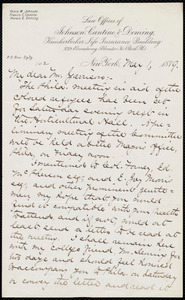 Letter from Richard Theodore Greener, New York, to William Lloyd Garrison, May 1, 1879