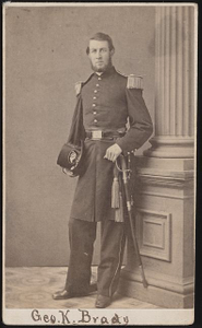 [Lieutenant Colonel George Keyports Brady of Co. B, 12th Pennsylvania Infantry Regiment and 14th Regular Army Infantry Regiment in uniform with sword]