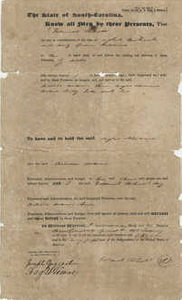 Bill of Sale for Three Slaves in Beaufort, South Carolina