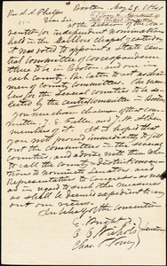 Letter from Charles Turner Torrey, Elizur Wright, and Curtis C. Nichols, Boston, [Massachusetts], to Amos Augustus Phelps, 1840 May 29