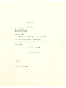 Letter from W. E. B. Du Bois to Augustus Granville Dill