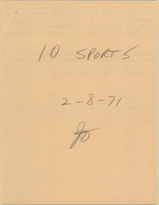 News Script: Sports