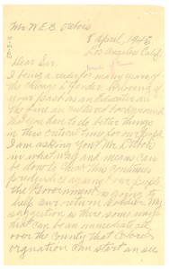 Letter from Char Abrham to W. E. B. Du Bois