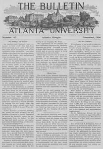 The Bulletin of Atlanta University, November 1906 no. 167, Atlanta, Georgia