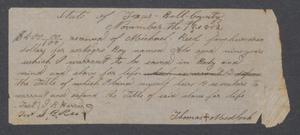 [Bill of sale for a slave boy named Abe] Michael Reed Papers