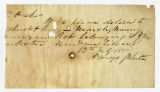 Letter by Alonzo White (incomplete) to Ziba Oakes