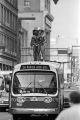 "Bodybuilders standing on top of a bus during the filming of the movie ""Stay Hungry"" in Birmingham, Alabama."