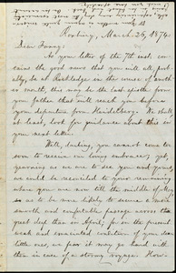 Letter from William Lloyd Garrison, Roxbury, [Mass.], to Fanny Garrison Villard, March 26, 1874