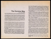 """Photocopy. Juan Mari Brás, """"The Decisive Way"""