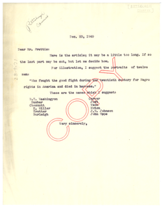 Letter from W. E. B. Du Bois to Pittsburgh Courier