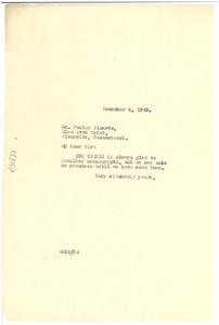 Letter from W. E. B. Du Bois to Foster Ricardo