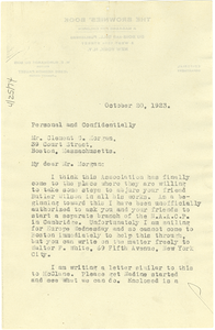 Letter from W. E. B. Du Bois to Clement G. Morgan