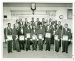 Group photograph of members of Lodge #43 F. & A.M. Palo Alto, California