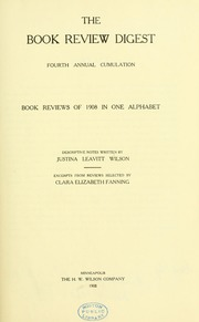 Book review digest, 1908 v.4