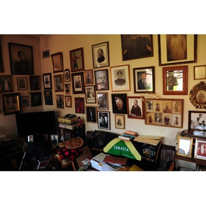 Reverend Chauncy Moore's wall of photographs.