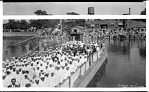 [Group on boat; American flags and other banners] [acetate film photonegative,] Sept. 18, 1932