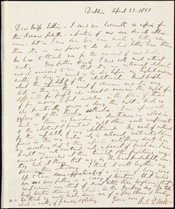 Letter from Richard Davis Webb, Dublin, [Ireland], to Mary Anne Estlin, 1851 April 23