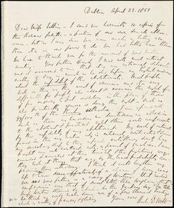 Thumbnail for Letter from Richard Davis Webb, Dublin, [Ireland], to Mary Anne Estlin, 1851 April 23